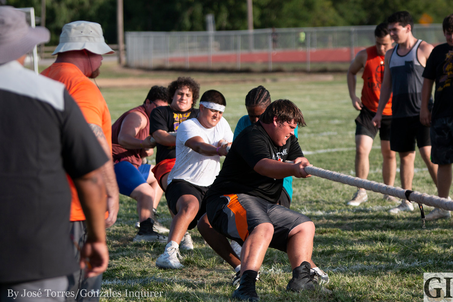 The Gonzales Apaches invited the Lockhart offensive linemen over to compete in a challenge as a tune-up before the state championship meet this upcoming weekend.