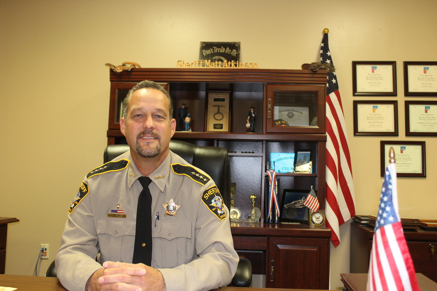 Gonzales County Sheriff Matt Atkinson announced last week that he is going to seek a second term as sheriff in the 2020 election.