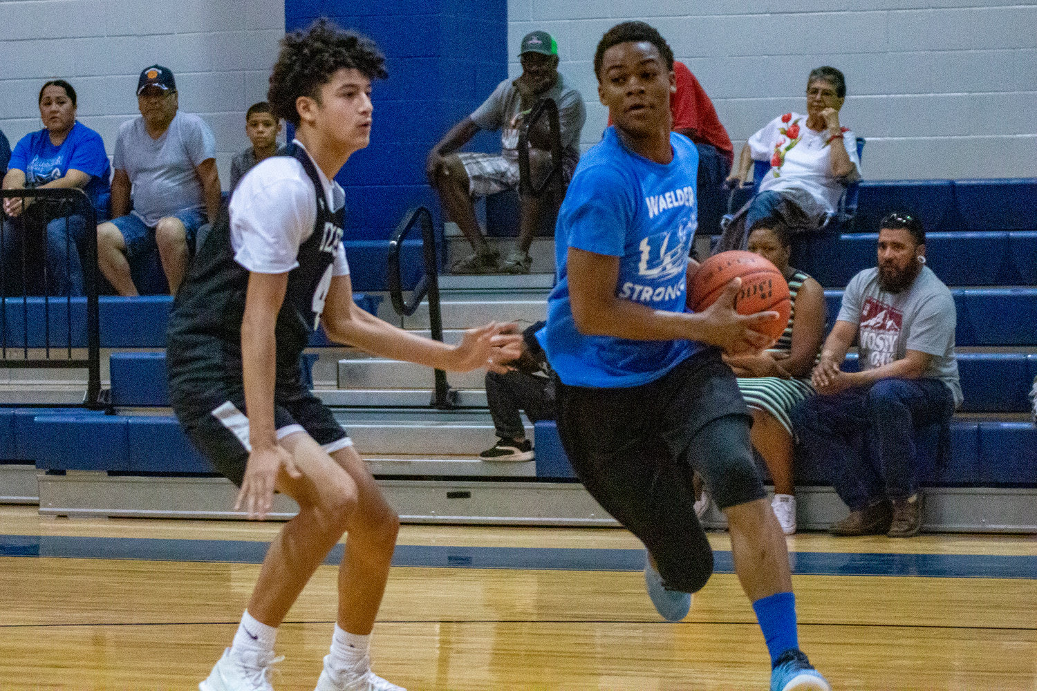 The Waelder Wildcats hosted a summer basketball league in July, playing against schools nearby like Schulenburg and (pictured) the Gonzales Apaches. The games gave the basketball programs the opportunity to put their athletes in competitive situations.