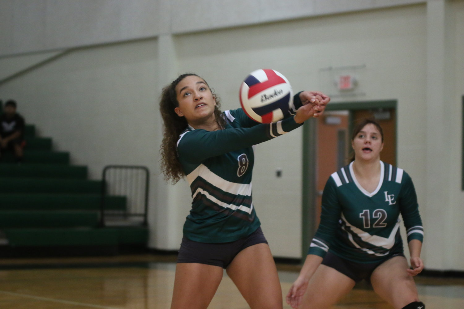 The Luling Lady Eagles struggled Tuesday due to a slow start, but eventually got things going in the second and third set of their three-set loss to Schertz John Paul II.