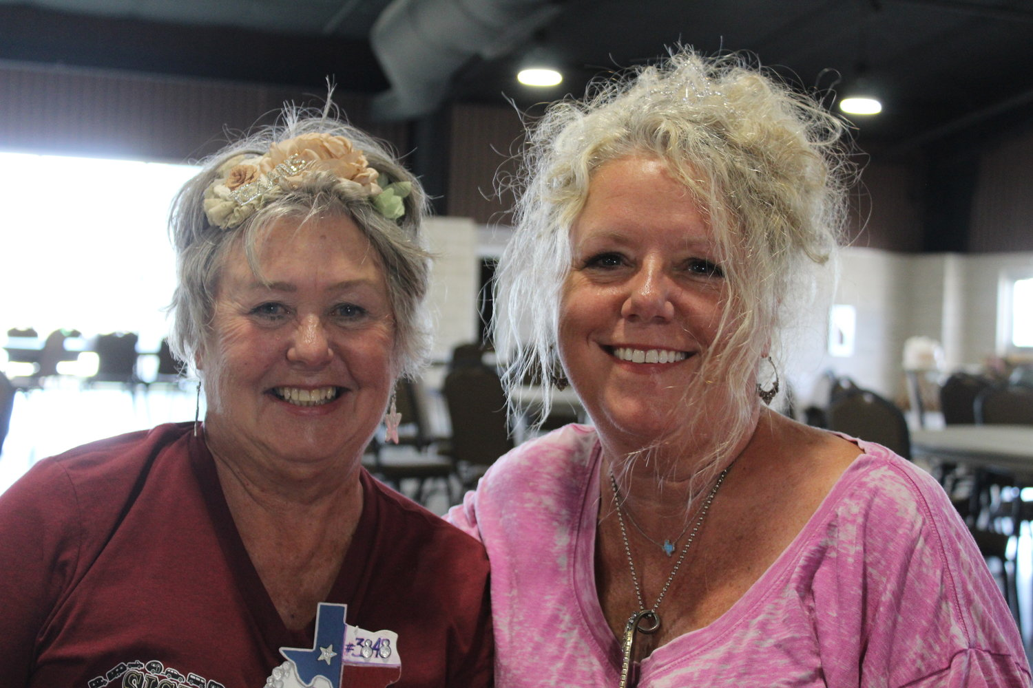 Pictured are Sisters on the Fly members and cancer survivors Danis Cheney (Aransas Pass) and Caren Cook (Lake Whitney).