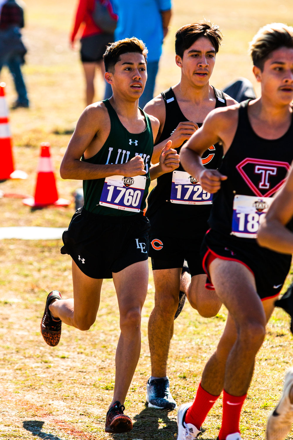 Edwin Zamudio is a state champion, winning the Class 3A boys race with his time of 15:35.87.
