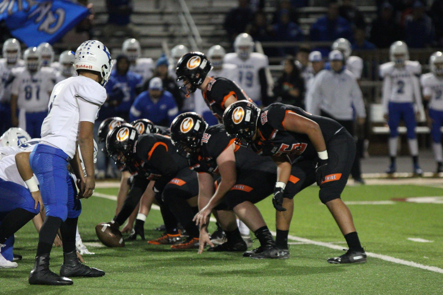 Gonzales head coach Mike Waldie gave props to his offensive line, who led the way in the Apaches' offensive attack in their 21-point victory.