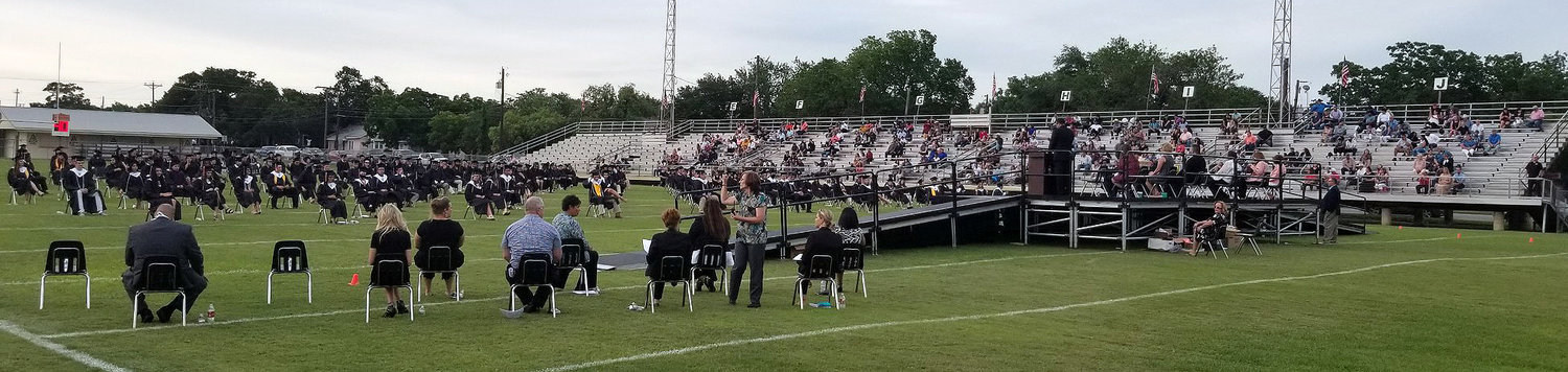 Gonzales High School held its graduation ceremony Friday at Apache Stadium.