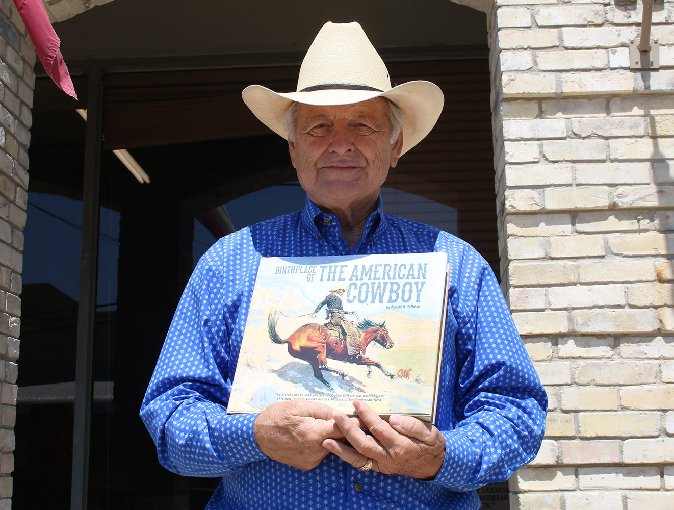 Former Nixon-Smiley High School Principal Donald Hoffman has penned his second book on the history of Gonzales County. (Brooke Sjoberg)