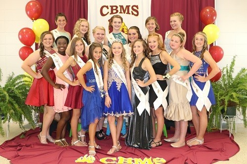 Pictured are, back row, from left, Brianna Smith, Melissa Merchant, Carlie Graydon, EmmaKate Langham, Kelsey Magon, Kristian Stringer, Savannah Sanderson; front row, from left, Cali Hess, Addison Phillips, Abby Larkin, Raine Henderson, 2016-17 Homecoming Queen Maddie Cooper, Madison Singler, Carlie Hance, Willow Janes and Ali McDaniel. Not pictured, Michaela Sharp and Kaitlyn Taylor.