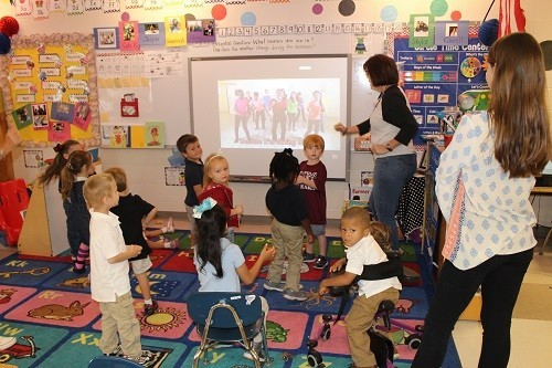This integrated pre-K classroom at Robertsdale Elementary School includes regular education students and students with physical challenges.