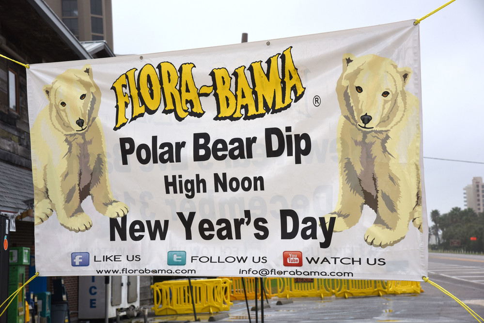 Thousands turned out for the Flora-Bama's annual Polar Bear Dip. The event, held at noon on New Year's Day, saw patrons in costumes from Elvis and hot sauce packets to actual polar bears jump into the not-so-frigid waters of the Gulf. After their swim, guests were treated to a buffet lunch and live music.