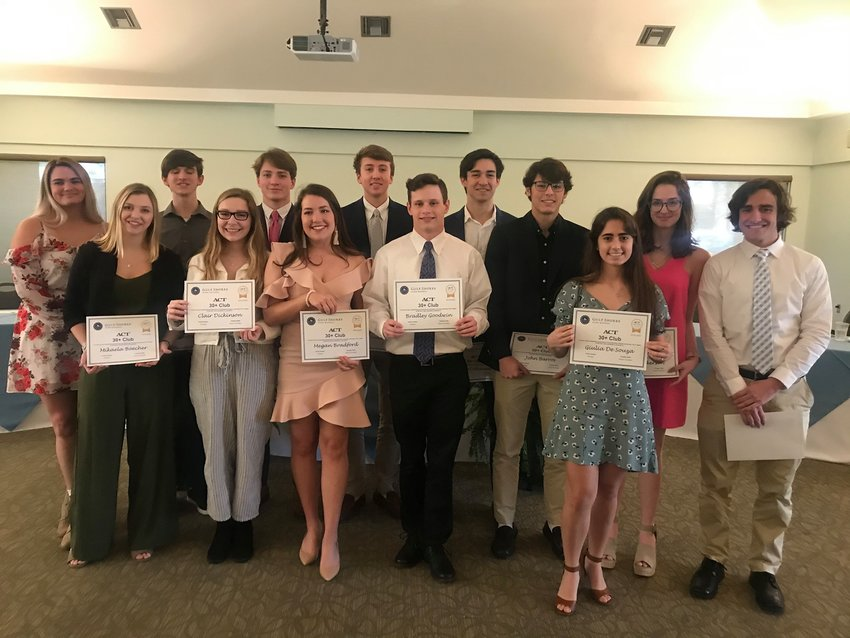 Gulf Shores High School celebrated the achievements of 19 high-achieving students Feb. 21 at the ACT 30+ Club Luncheon and Honors Ceremony. This year, 19 students have achieved a 30 or higher on the ACT.