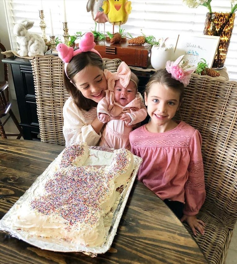 Rachel Sawyer and her three daughters made a bunny cake for the Gulf Shores Cake Wars - Easter Edition