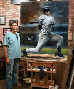 United States Sports Academy's 2020 Sport Artist of the Year, Painter - Brian Fox.