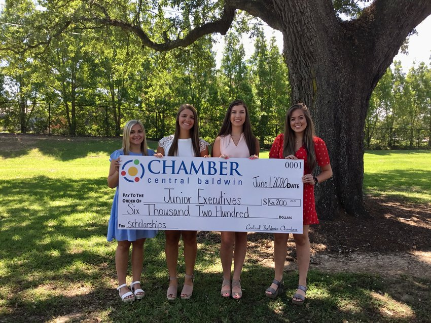 Pictured from left Anna Rose Racine, Ellie McCully, Sarah Shipp, and Missy Campbell.