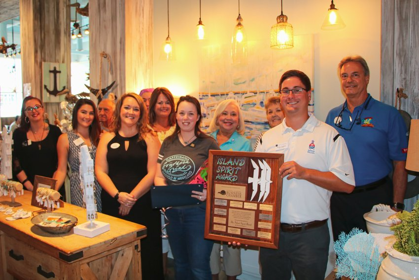 Cassie Trattles of The Southern Grind Coffee House at The Wharf is the July 2020 Island Spirit Award winner.