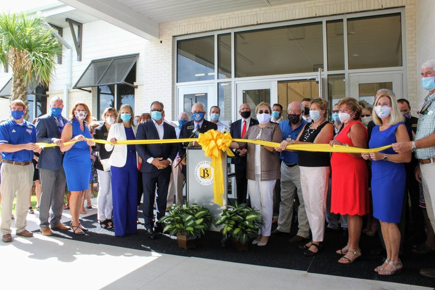 The completion of the school was celebrated by Orange Beach city officials, Baldwin County School staff, Baldwin County School Board members, local and state elected officials
