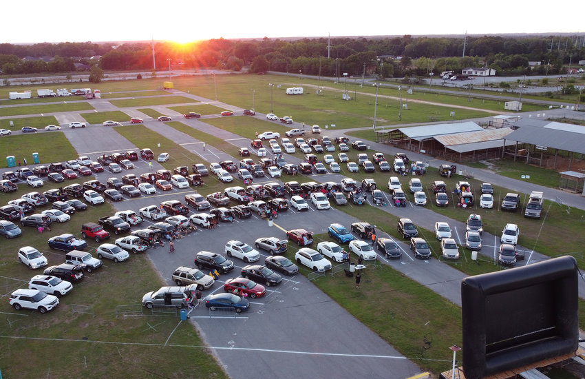 Drive-in movie layout