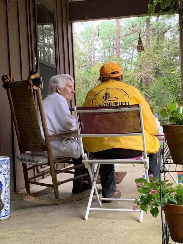 Crews from the Southern Baptist Convention's Disaster Relief Alabama Task Force team based in Bay Minette worked to clear debris from the home of Nita Molyneux of White House Fork.