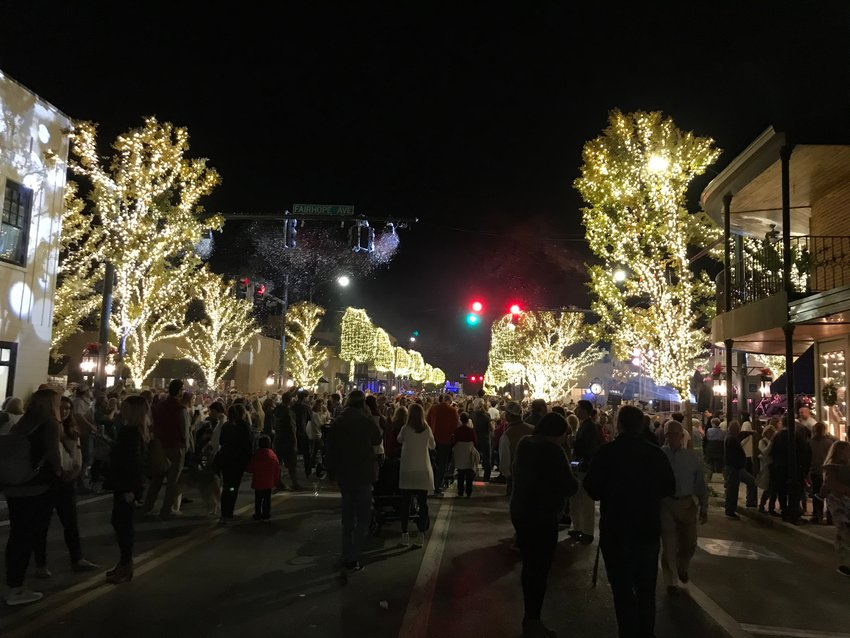 Crowds gather in Fairhope for the 2019 Lighting of the Trees.