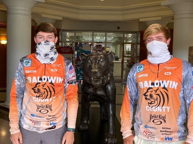 """Cat"" fish or ""Striped"" bass, anyone? How about ""Meow"" tain bass? Hunter Odom and Canyon Odom are casting for the Tigers and Baldwin County in Tennessee starting today. Good Luck!"