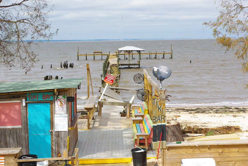The pier at the Fairhope American Legion post on Scenic 98 was wrecked by the storm surge from Hurricane Zeta. Volunteers had been working for more than two months to renovate the pier before the hurricane struck on Oct. 28.