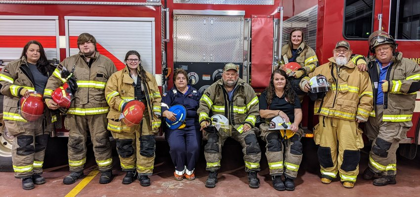 Styx River Volunteer Fire Department officers for 2020-21 are, from left, Amanda Silkwood, treasurer; Cole Dunbar, director; Grace Ellison, director; Tina Holston, director; Mike Holston, assistant chief; Beth Dunbar, president; Tami Lloyd, secretary; Daryl McGill, vice president; Courtney Dunbar, chief.