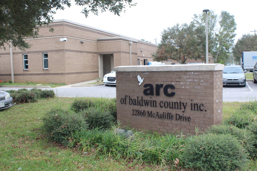 ARC of Baldwin County's training facility, located in the Robertsdale Industrial Park, was built with a FEMA grant and local government assistance following Hurricane Ivan in 2004.