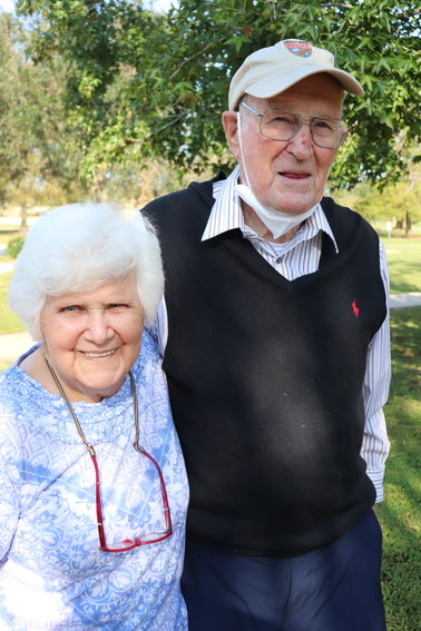 Gabriel Kinney and his wife, Elena, have been married for 75 years in live in Daphne.