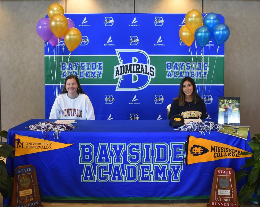 Bayside Academy seniors Colton Thompson and Miriam McCoy on National Letter of Intent Day, Nov. 11.