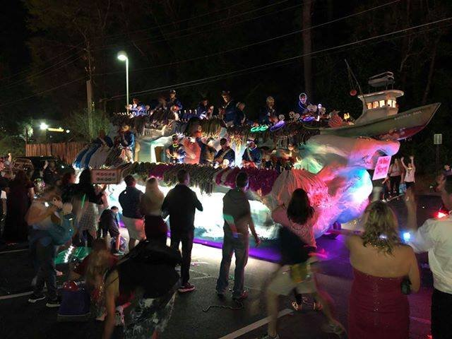 The 2020 Shadow Barons parade rolls in Daphne. The 2021 parade has been canceled due to concerns over COVID-19.