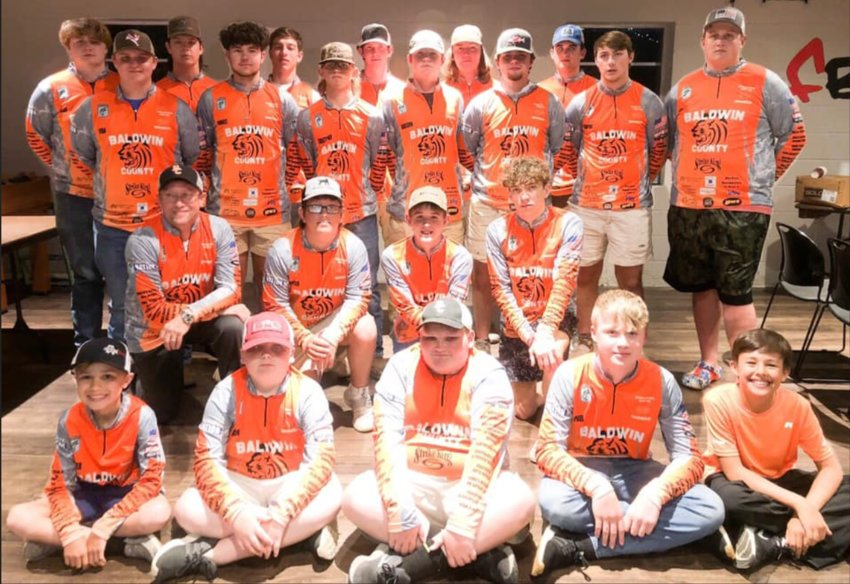 2021 members of the Tigers Fishing Teams, Team One and Team Two.