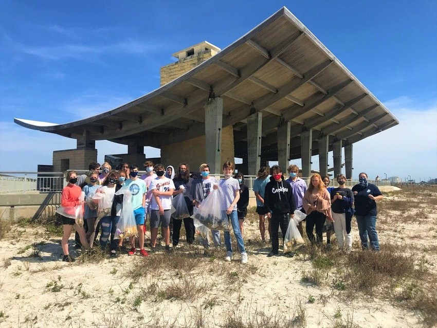 Gulf Shores High School students from Ms. Marcum's Gulf Coast Ecology class spent a morning assisting park staff. In less than one hour, the group collected 25 pounds of debris.