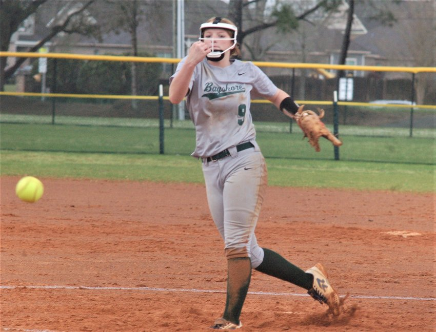 Ava Wilkinson went the distance in the circle for the Eagles' win at Al Trione Park.