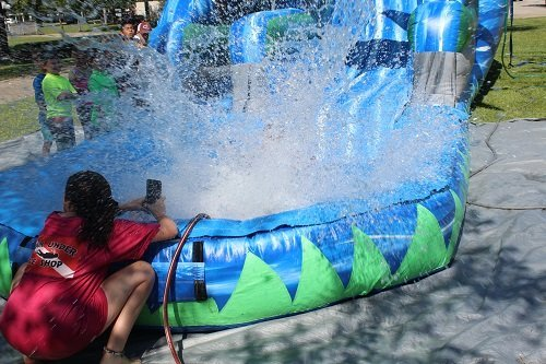 Participants in the Loxley Summer Day Camp make a splash in 2019. The camp is returning for the summer of 2021 after being cancelled in 2020.