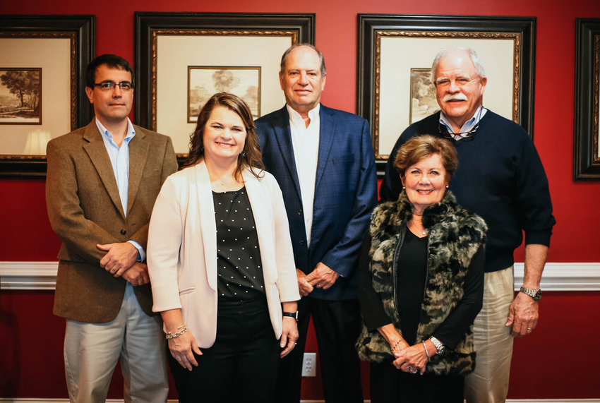 North Baldwin Community Foundation Advisory Committee members include, from left, Scotty Lewis, Tina Covington, Jim Robertson, Lee Mitchell and Tom Mitchell.