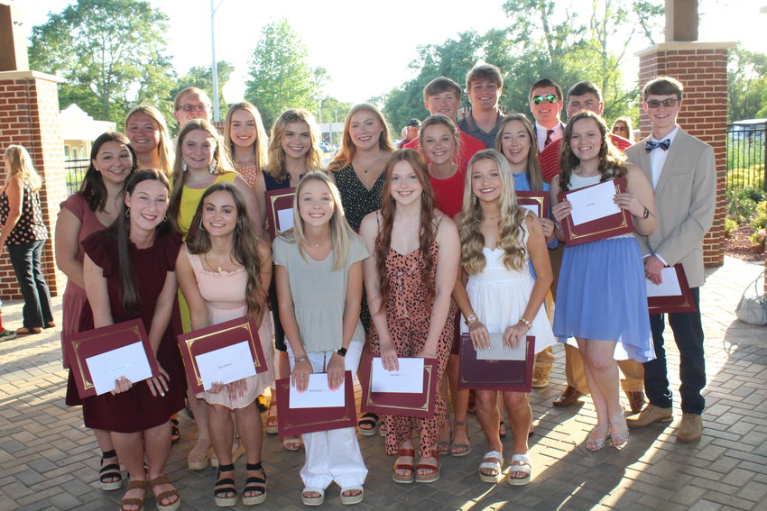 Robertsdale High School Alumni Association Scholarship recipients, in no order, Kyla Carpenter, Chloe Giardina, Cali Hess, Carleen Horace, Madison Cooper, Baylee Lueck-West, Cole Bedrick Cheney, Thomas Eli Roberson Jr., Kiera Earls, Gillian Langham, Peyton Barnes, Morgan Barnhill, Emily Crandall, Grant Driver, Hunter Theodoro, Eli Godfrey, Lilly Glassford, Stephanie Sellers Doggett, Saxton Sommer and Emily Kalifa.