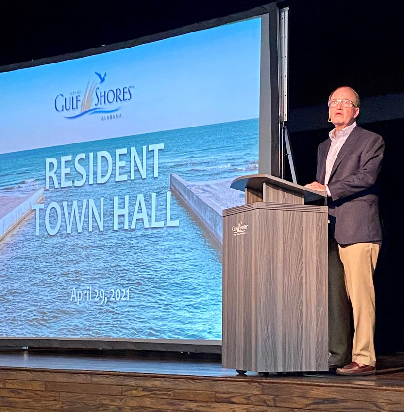 Mayor Robert Craft opened the Town Hall Meeting with a presentation before residents were encouraged to visit with department heads and view plans for upcoming projects and projects underway.
