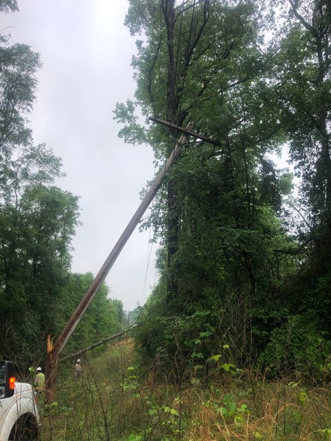 Storms causing downed trees and broken poles resulted in outages to nearly 15,000 members in Central Alabama Electric Cooperative's service area.