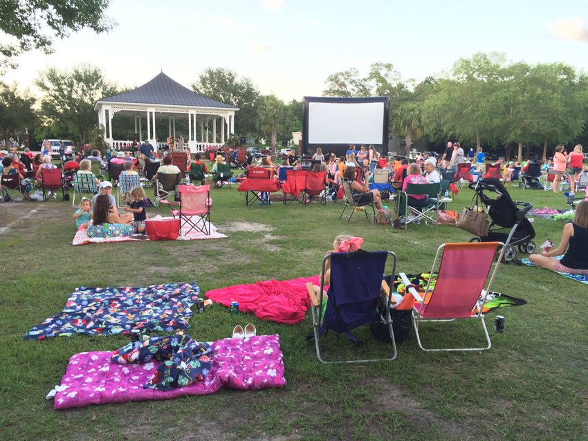 Families enjoy music and a movie in Heritage Park, a five-week event held late May and June in Foley.