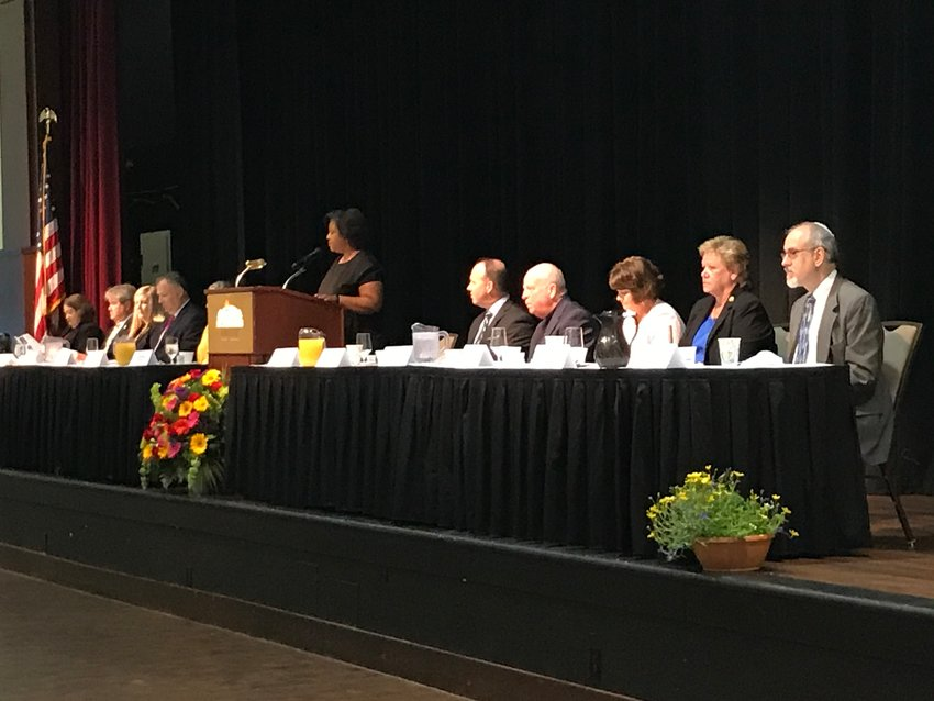Audience members fill the Daphne Civic Center during the 2021 Mayors Prayer Breakfast on Thursday, May 6. The event was sponsored by the Eastern Shore Chamber of Commerce.