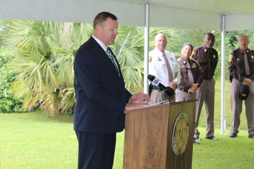 Guest speaker Assistant Special Agent in Charge Mark Sabol, FBI Southern District office in Mobile.