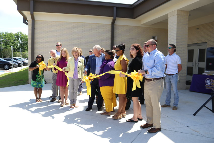 Daphne Middle School expansion ribbon cutting.