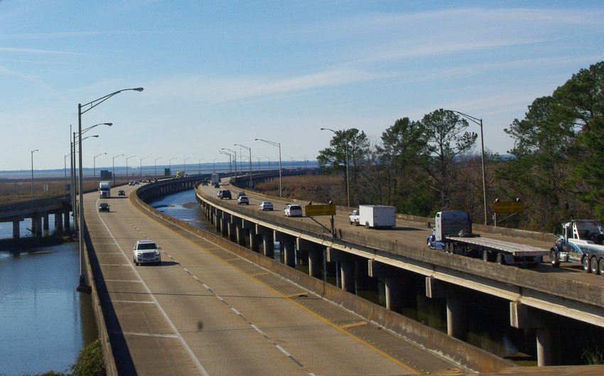 Trucks and cars move over the Interstate 10 Bayway in Daphne. The Eastern Shore Metropolitan Planning Organization will vote Wednesday, June 9, on plans to improve access across Mobile Bay.