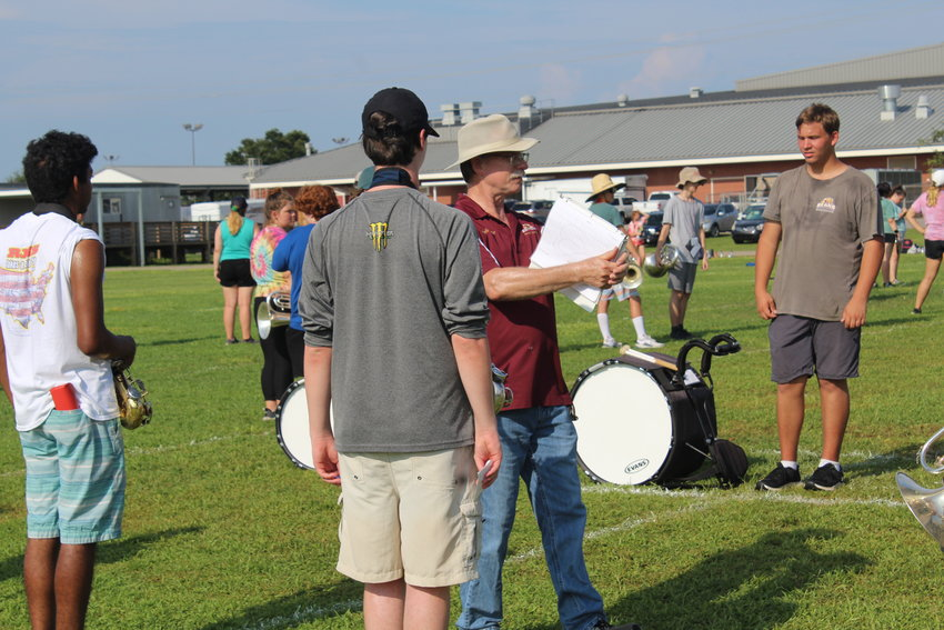 The Robertsdale High School Golden Bear Marching Band participated in a two-week band camp July 19-30 on campus at RHS.