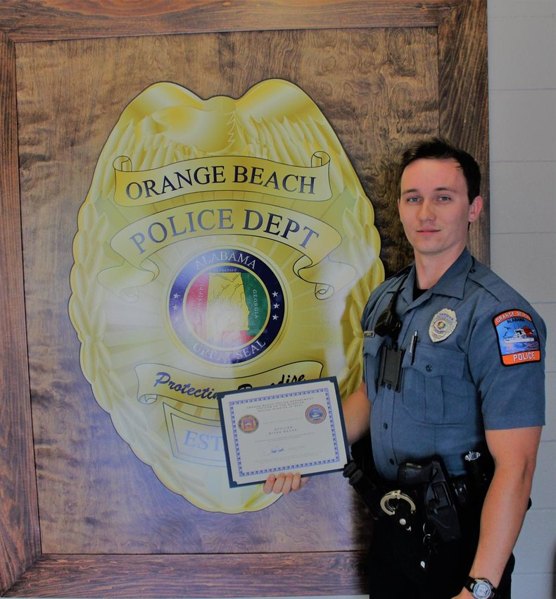 The Orange Beach Police Department recognized Officer River DeVoe as Officer of the second Quarter of 2021.