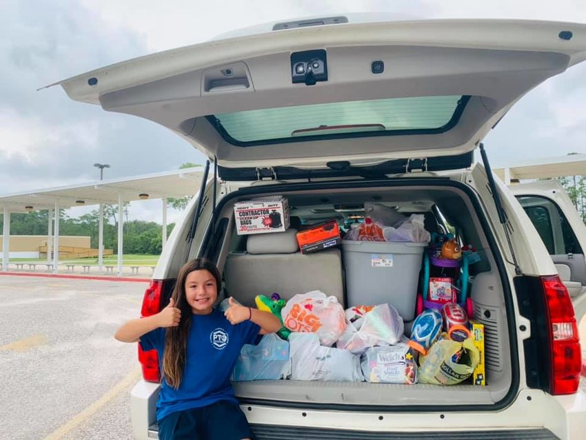 The Orange Beach Elementary collected toys, books and necessities for the Untied Cajun Navy.
