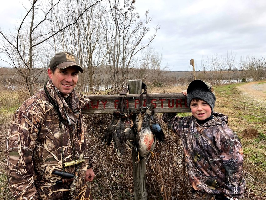 Phil and John Cowley from Seale, Alabama, participated in a FWFTA youth duck hunt in 2018.