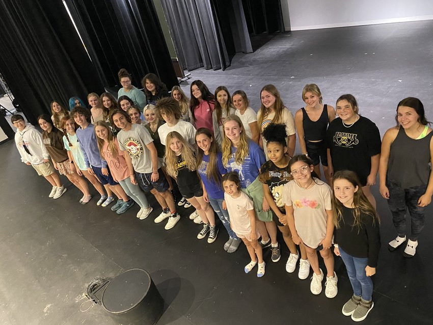 The cast of Disney's Frozen Jr. take the stage Sept. 18 for the first production to perform in the Orange Beach Performing Arts Center.