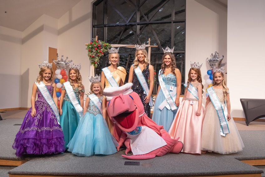 The Fifth Annual Miss Shrimp Festival pageant was held at the Gulf Shores Cultural Center Sept. 11 crowning the Miss Shrimp Festival 2021 queens. Little Miss (third grade) Allisyn Becker, Little Miss (fourth grade) Isabella Bryant, Tiny Miss Mercy Bender, Junior Miss Elenor McCoy, Miss Shrimp Festival Sophia Henry, Miss Teen Carleigh Jerkiewicz, Young Miss Taylee Byrd, Petite Miss Mailey Hixon.