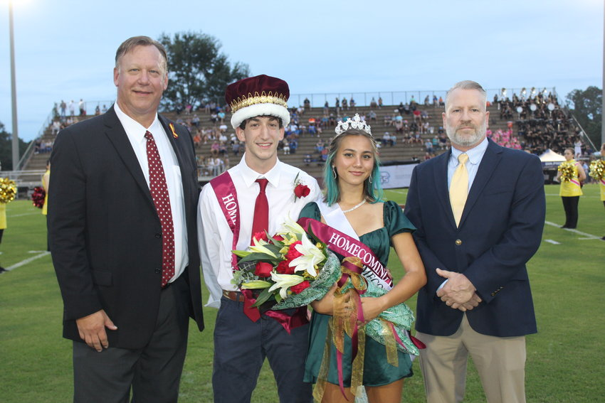 Robertsdale High School Principal Joe Sharp with King and Queen Larry Lewandowski and Brooke Sterling with Joel Sterling.