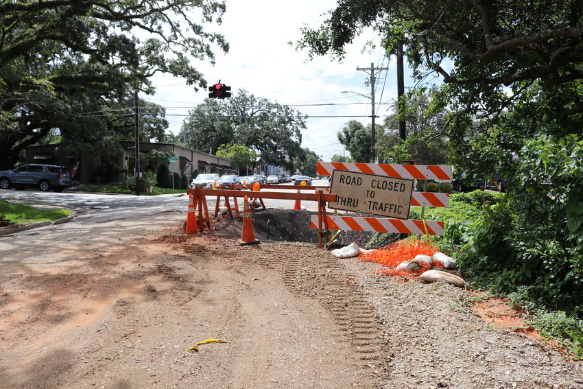 The intersection of Magnolia Avenue and Church Street was closed Monday, Sept. 20 while the second phase of drainage improvement work is done at the site. The intersection is scheduled to be closed until Monday, Oct. 25.