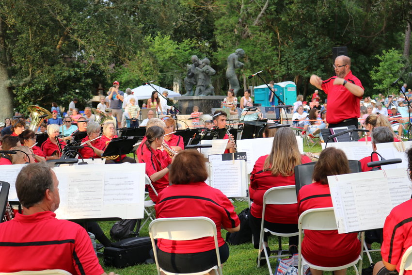 The Baldwin Pops performs at the Henry George Park bluffs in Fairhope during a July 4 concert. The band will perform at the bluffs on Oct. 3 during its Fairhope Founder's Day concert.